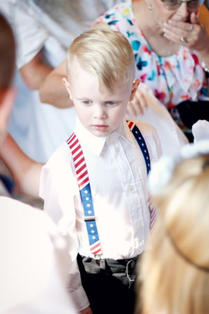 boy red white blue suspenders ring bearer wedding photography columbia missouri mo jefferson city boonville getting ready