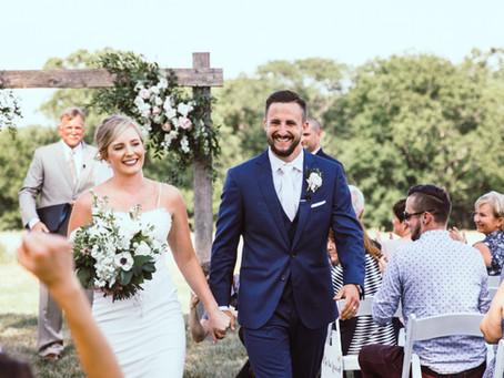 Blush and Navy Outdoor Wedding | Dan & Ashley