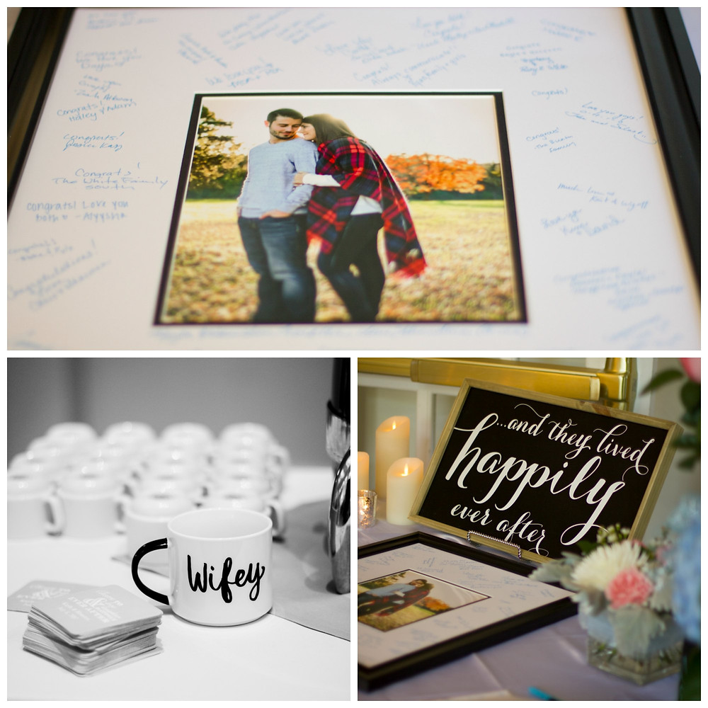 wedding decoration inspiration guest book ideas wifey mug happily ever after gift table Columbia mo missouri photographer photography decor