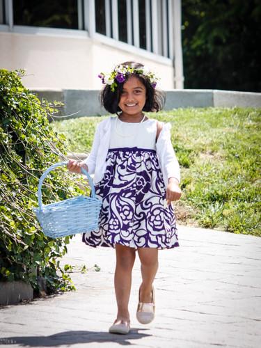 flower girl dress flower crown little girl wedding basket aisle columbia mo les bourgeois