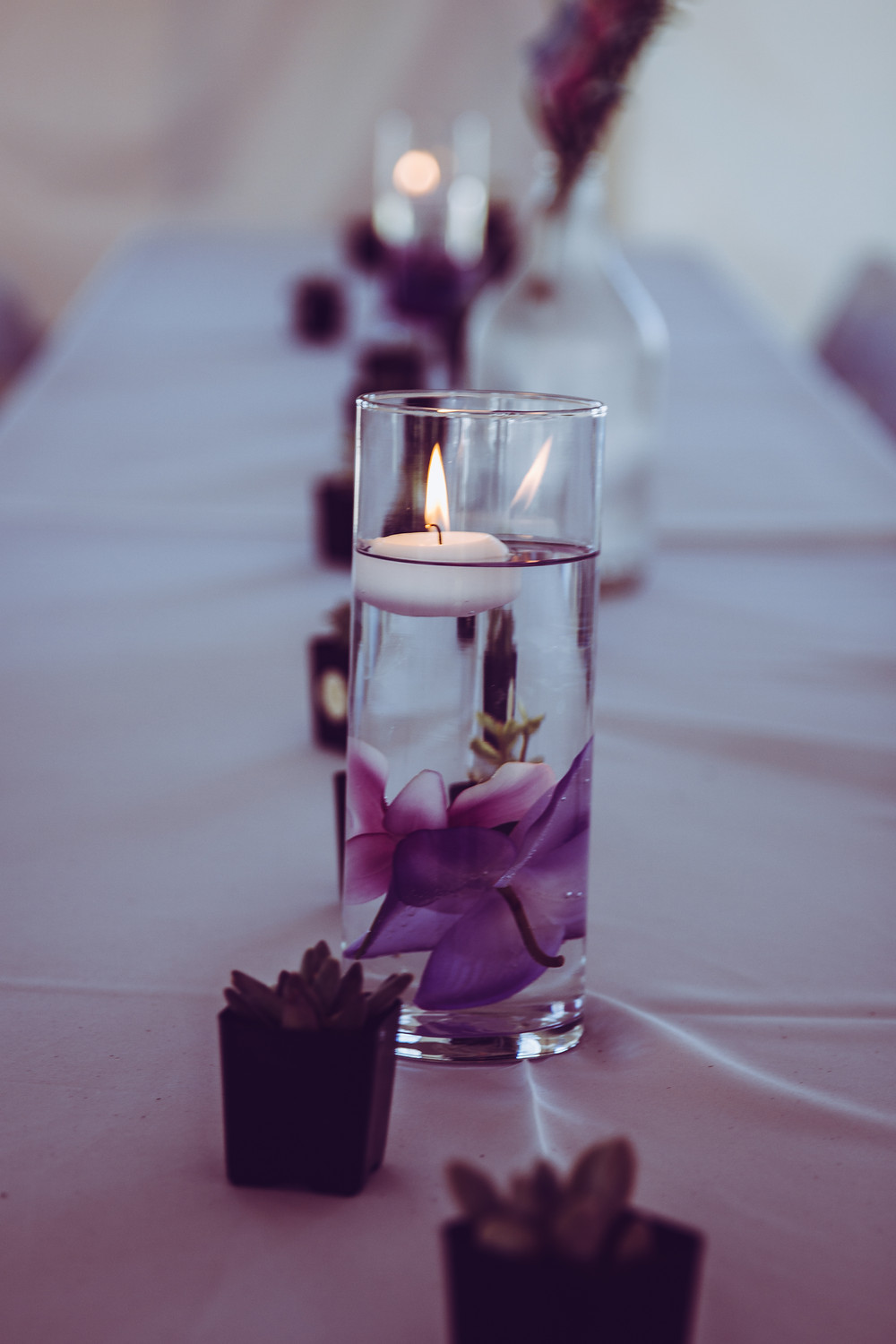 blue diamond events, wedding, coordinating, tropical, centerpieces, columbia, missouri, mo