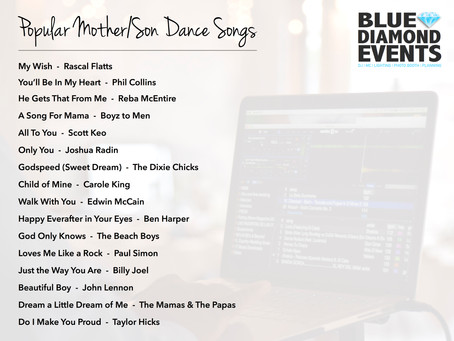 Playlists: Popular Mother/Son Dance Songs