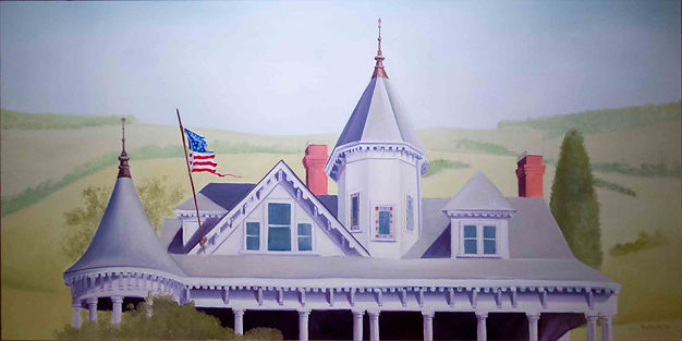 Patriot Land (Painting of the Sinda Allen House near Fancy Gap in Carroll County, Virginia)