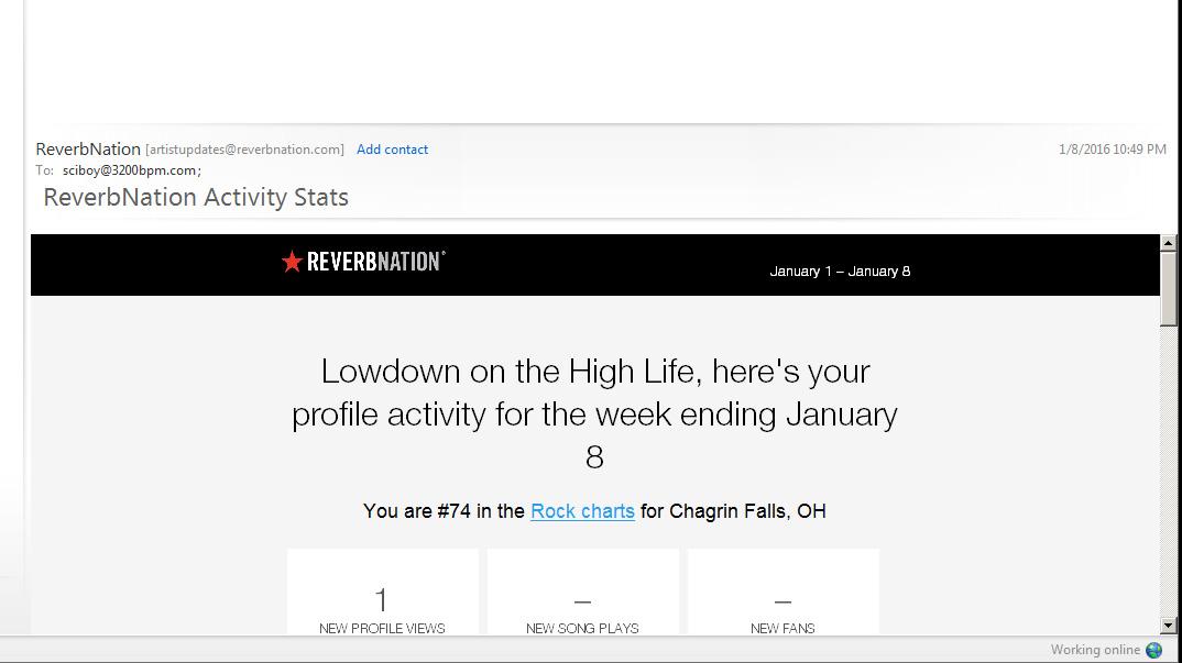 reverbnation ranking