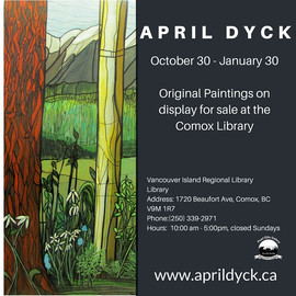 Comox Library - paintings by April Dyck.