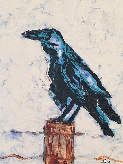Raven -original painting by April Dyck