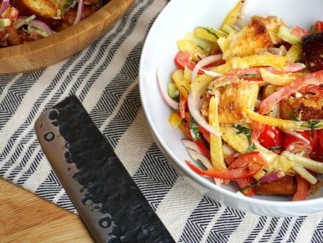 Panzanella Salad with Lemon-Kewpie Dressing