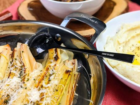 Browned Butter Braised Leeks
