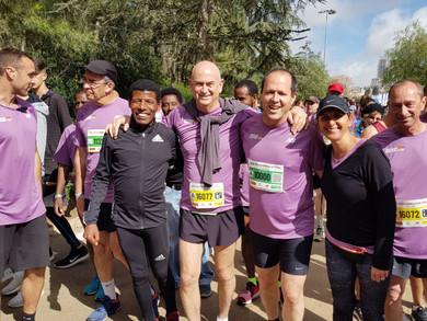 מרתון ירושלים 2018 יחד עם ניר ברקת