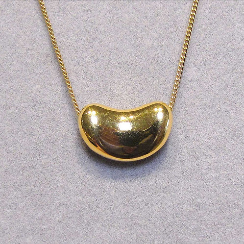 Tiffany & Co. 18K Large Bean Necklace by Elsa Peretti