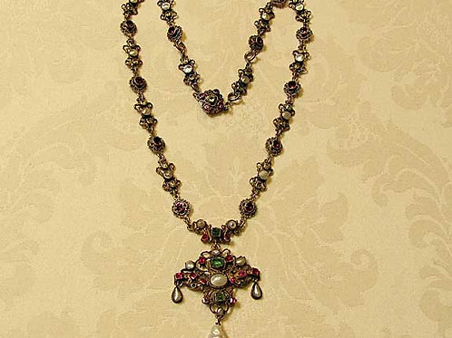 Fancy 19th Century Renaissance-Revival Necklace