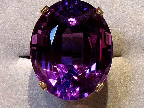 Huge Amethyst Solitaire Ring