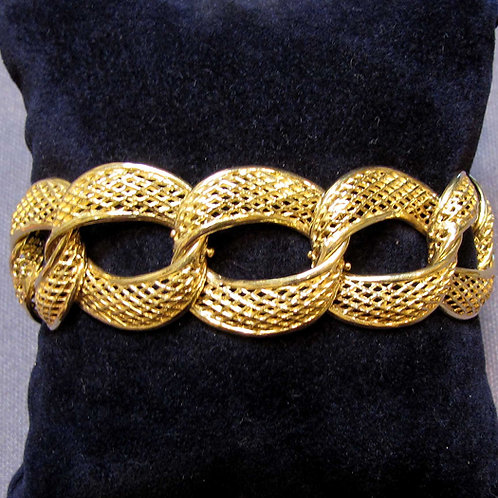 18K Latticework Curb Link Bracelet