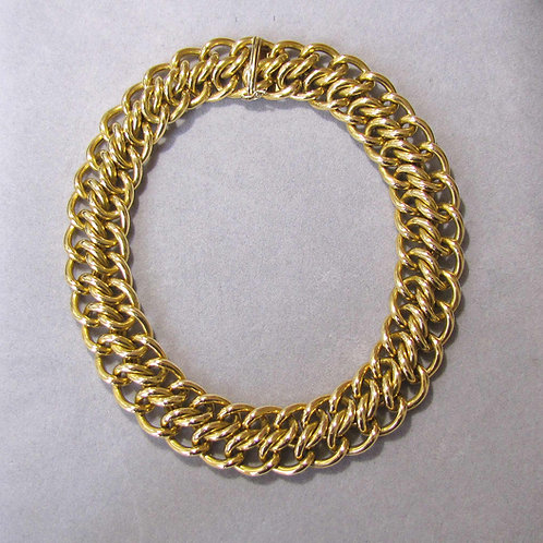 """Tiffany & Co. Wide 18K 15"""" Woven Link Necklace"""