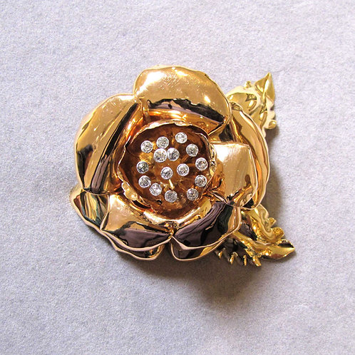 1940s Large Rose Brooch
