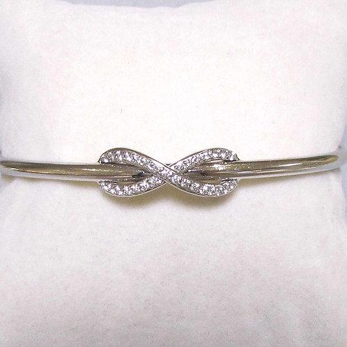 """Tiffany & Co. 18K Diamond """"Infinity"""" Cuff Bracelet"""