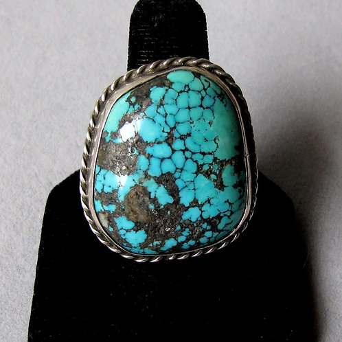 Navajo Sterling Silver Turquoise Ring by Paul Anderson