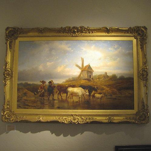 "Original Oil Painting by Alexis de Leeuw -- ""Homewards"""