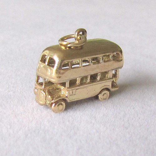 English Double-Decker Bus Charm