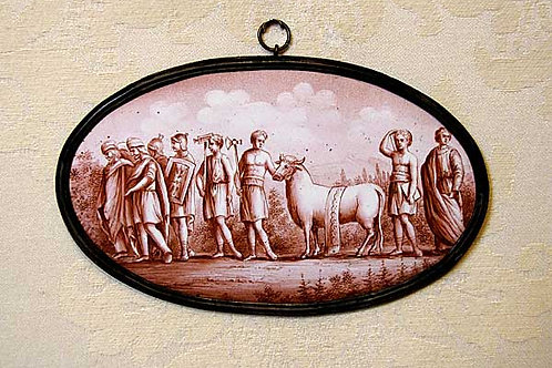 19th Century Enamel on Copper Plaque