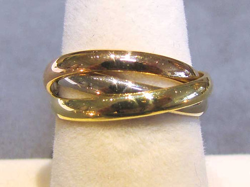 Cartier 18K Tri-Color Rolling Ring