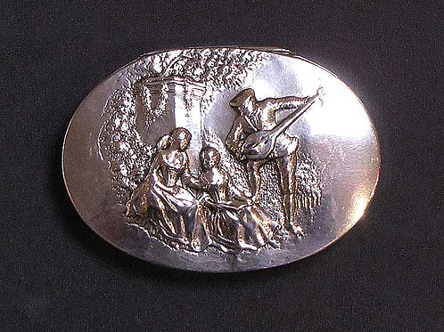 Antique Silver Box With Figures