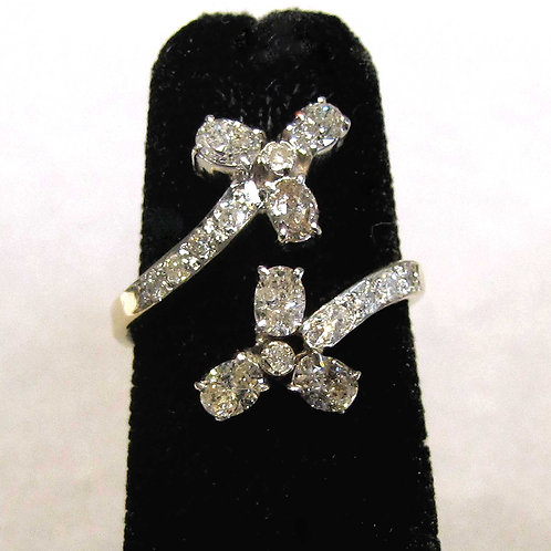 Victorian Diamond Bypass Ring