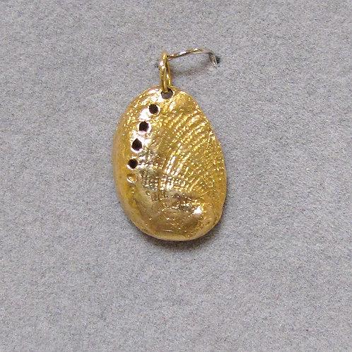 14K Abalone Shell Charm