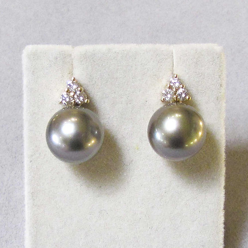 18K Tahitian Pearl and Diamond