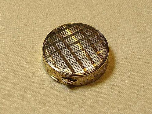 Round Plaid Pillbox