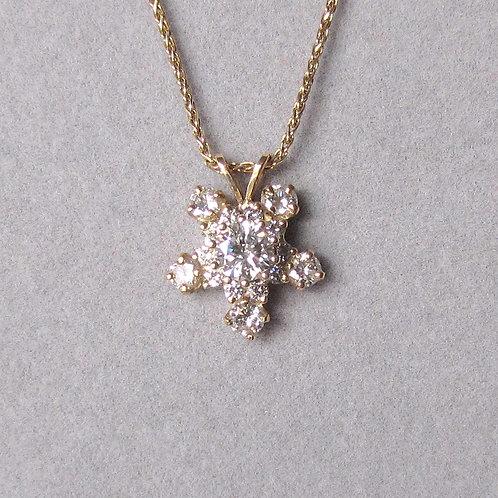 Yellow Gold and Diamond Star Pendant
