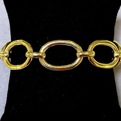 Heavy 18K Oval Link Bracelet
