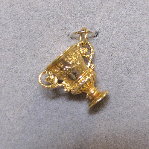 14K New Orleans Sugar Bowl Charm