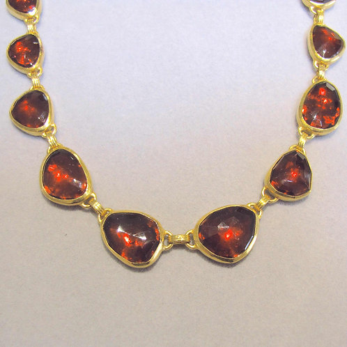 "Gurhan 24K and Faceted Garnet ""Elements"" Necklace"