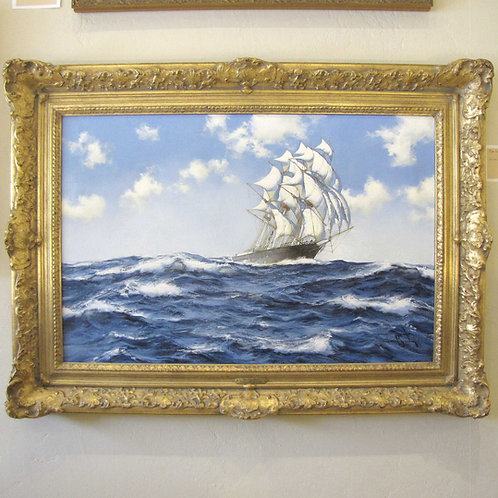 "Original Oil Painting by James Brereton - ""The Eliza Shaw - Billowing Home"""