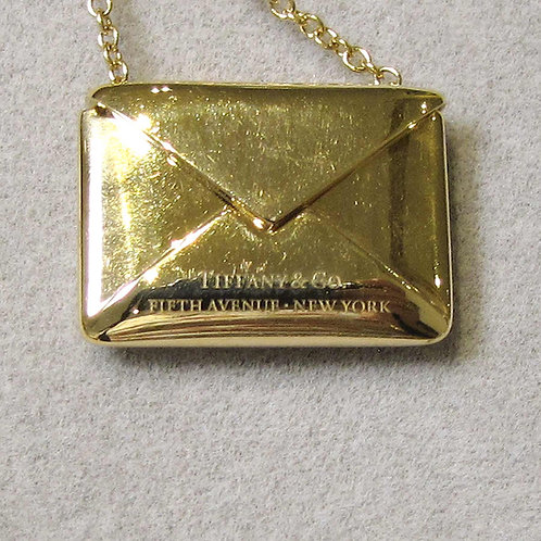 Tiffany & Co. 18K Envelope Necklace