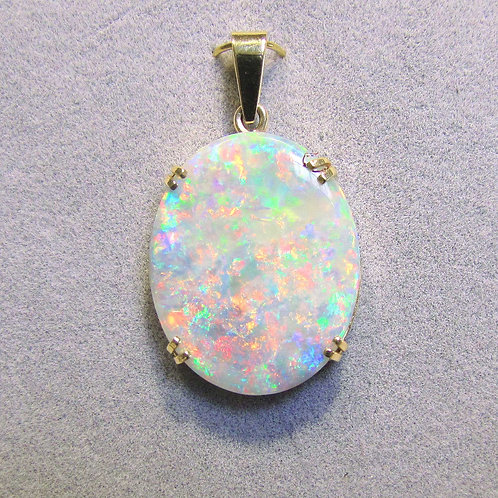 Large Oval Opal Pendant