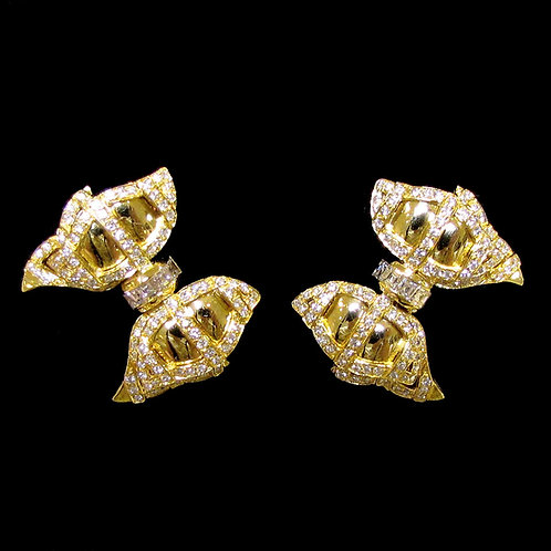 Fancy 18K Diamond Bow Earrings