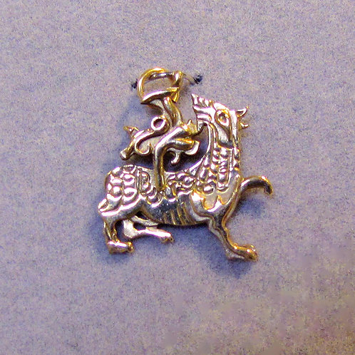 9K Welsh Dragon Charm