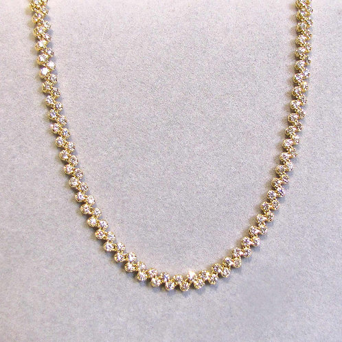 14K  5.50 Ctw. Diamond Line Necklace