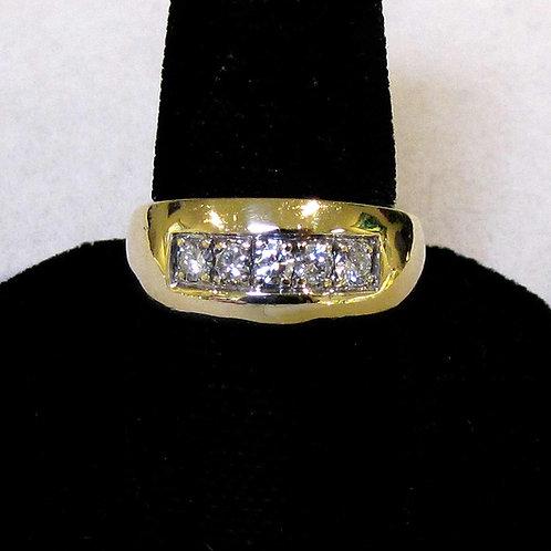 14K Five-Diamond Band Ring