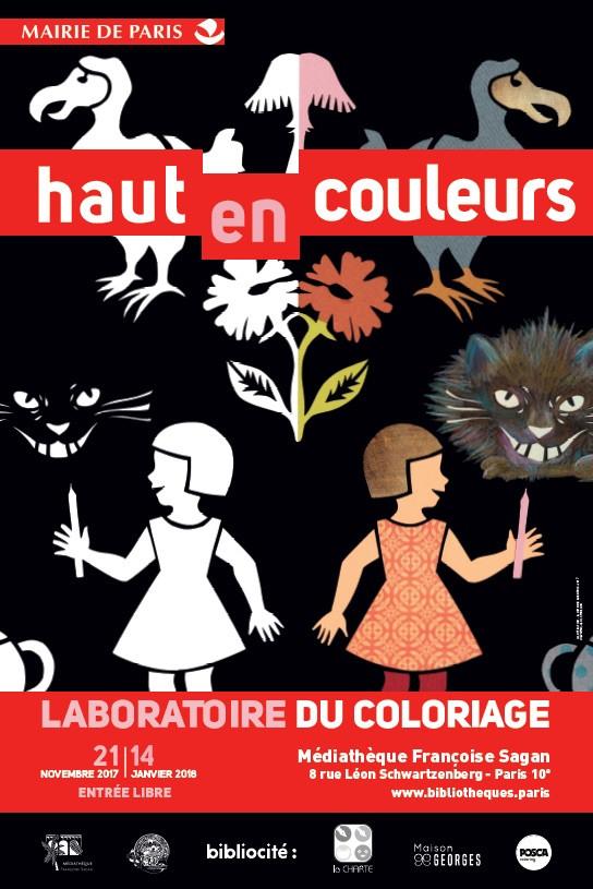 """Exposition """"HAUT EN COULEURS"""" Médiathèque Françoise Sagan, Paris"""