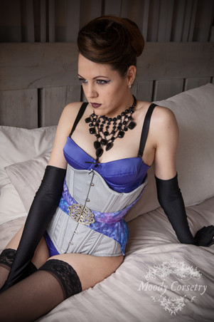 Grey and Purple Belted Underbust