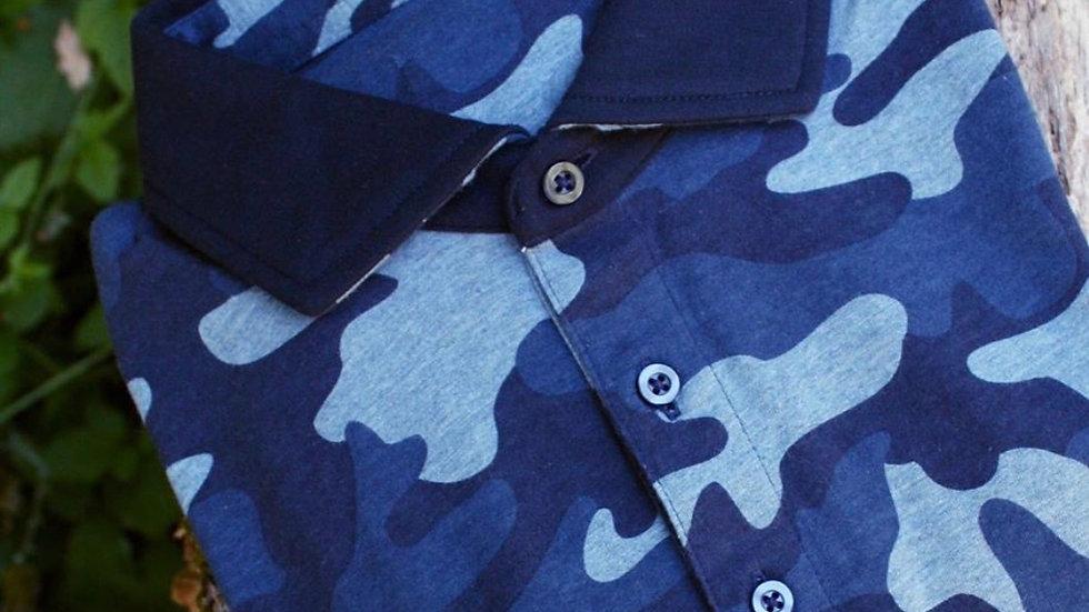 Blue Camo Polo