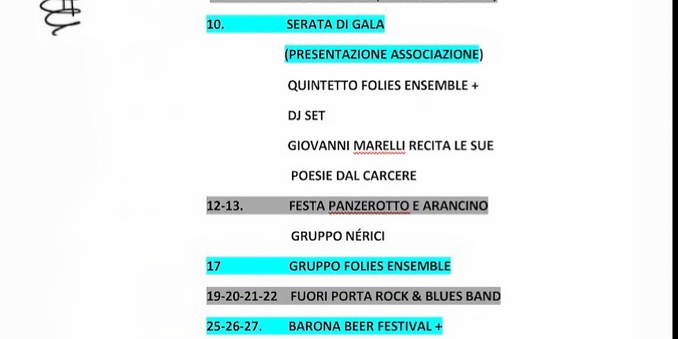Calendario eventi estate parco Teramo