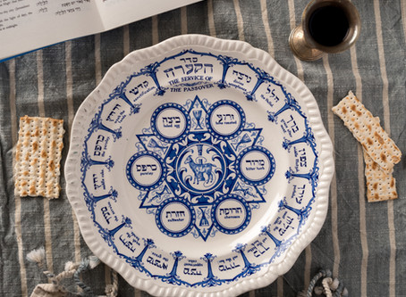 Passover Traditions; Flower for Seder Dinner Table
