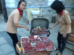Our regular BBQ session