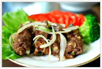 thịt bò cuộn phô mai nướng