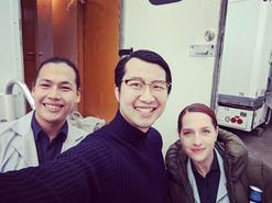 Behind the scenes on set for NBC's Debris.jpg