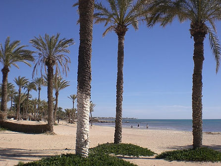 Locations in Tunisia - a beautiful beach on the southern coast of Tunisia